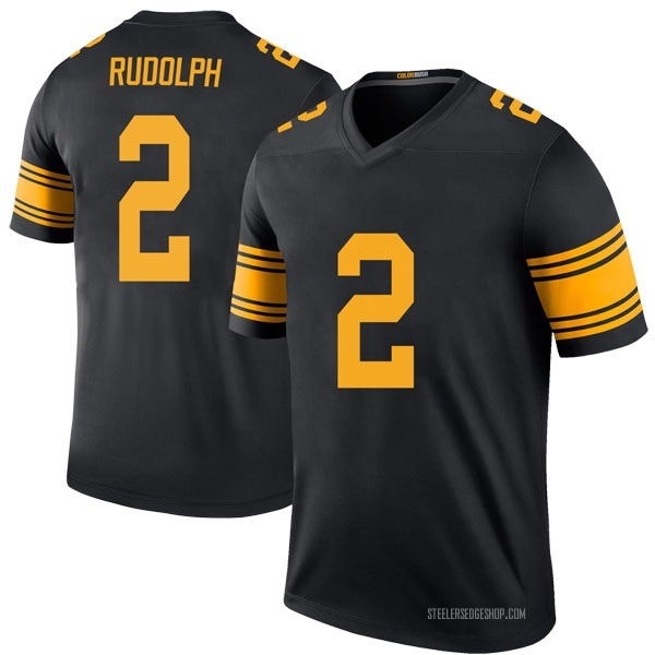 Men's Mason Rudolph Pittsburgh Steelers Legend Black Color Rush Jersey