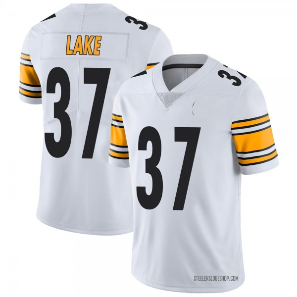 Youth Carnell Lake Pittsburgh Steelers Limited White Vapor Untouchable Jersey