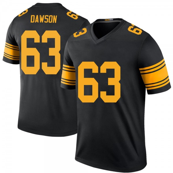 Youth Dermontti Dawson Pittsburgh Steelers Legend Black Color Rush Jersey