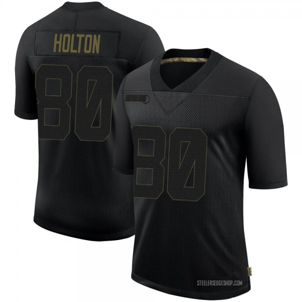Youth Johnny Holton Pittsburgh Steelers Limited Black 2020 Salute To Service Jersey