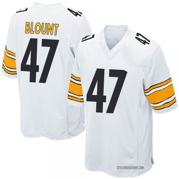 Youth Mel Blount Pittsburgh Steelers Game White Jersey